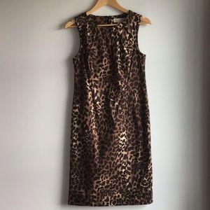 MICHAEL Michael Kors Leopard Print Sheath Dress, 8